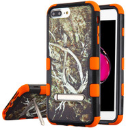 Military Grade Certified TUFF Hybrid Armor Case with Stand for iPhone 8 Plus / 7 Plus / 6S Plus / 6 Plus - Tree Camouflage Orange