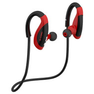 Athlete Series Bluetooth V4.1 Wireless Earhook Headphones with Microphone - Black Red