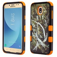 Military Grade Certified TUFF Image Hybrid Armor Case for Samsung Galaxy J7 (2018) - Tree Camouflage Orange