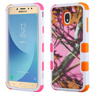 Military Grade Certified TUFF Image Hybrid Armor Case for Samsung Galaxy J7 (2018) - Pink Oak Hunting Camouflage