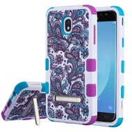 Military Grade Certified TUFF Image Hybrid Armor Case with Stand for Samsung Galaxy J7 (2018) - Persian Paisley