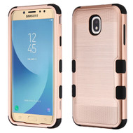 Military Grade Certified Brushed TUFF Hybrid Armor Case for Samsung Galaxy J7 (2018) - Rose Gold