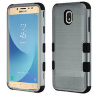 Military Grade Certified Brushed TUFF Hybrid Armor Case for Samsung Galaxy J7 (2018) - Slate Blue