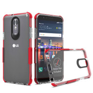 Transparent Protective Bumper Case for LG Stylo 4 - Red