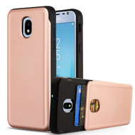 Under Cover Card Slot Case for Samsung Galaxy J3 (2018) - Rose Gold