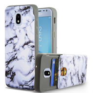 Under Cover Card Slot Case for Samsung Galaxy J3 (2018) - Marble White