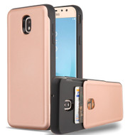 Under Cover Card Slot Case for Samsung Galaxy J7 (2018) - Rose Gold