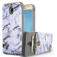 Under Cover Card Slot Case for Samsung Galaxy J7 (2018) - Marble White