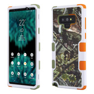 Military Grade Certified TUFF Image Hybrid Armor Case for Samsung Galaxy Note 9 - English Oak Hunting Camouflage