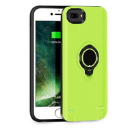 Smart Power Bank Battery Case 3700mAh with Ring Holder for iPhone 8 Plus / 7 Plus / 6S Plus / 6 Plus - Green