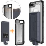 2-IN-1 Hybrid Case + Detachable Power Bank Battery Charger 4800mAh for iPhone 8 Plus / 7 Plus / 6S Plus / 6 Plus - Black