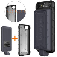 2-IN-1 Hybrid Armor Case with Detachable Smart Power Bank Battery Charger 4800mAh for iPhone 8 / 7 / 6S / 6 - Black