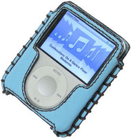 Luxury Series Hand Stitched Leather Case for 3rd Generation iPod Nano (Baby Blue)