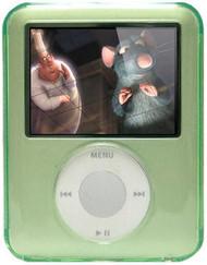 Crystal Body Shield Case for 3rd Generation iPod Nano (Green)