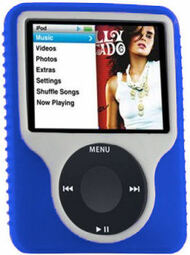 Tough Silicone Skin Case for 3rd Generation iPod Nano (Blue)