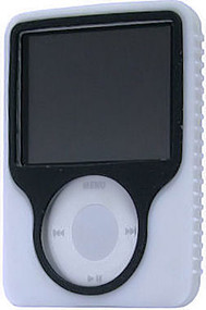 Tough Silicone Skin Case for 3rd Generation iPod Nano (White)