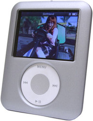 Hard Acrylic Shield Case for 3rd Generation iPod Nano (Rubber Silver)