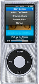 Aluminum Crystal Hard Case for 4th Generation iPod Nano (Silver)