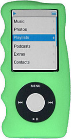 Hand Grip Silicone Sleeve for 4th Generation iPod Nano (Green)