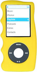 Hand Grip Silicone Sleeve for 4th Generation iPod Nano (Yellow)