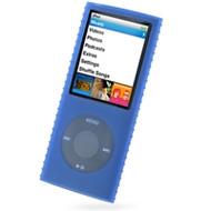 Super Grip Silicone Skin Case for 4th Generation iPod Nano (Blue)