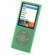 Super Grip Silicone Skin Case for 4th Generation iPod Nano - Green