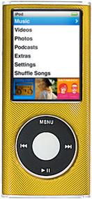 Aluminum Crystal Hard Case for 4th Generation iPod Nano (Gold)
