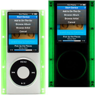 Glow In The Dark Clear Acrylic Hard Case for 4th Generation iPod Nano 4G (Green)