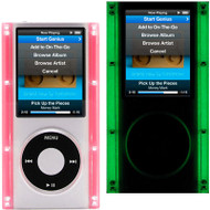 Glow In The Dark Clear Acrylic Hard Case for 4th Generation iPod Nano 4G (Pink)