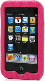 Nylon Hard Shell Case for 2nd & 3rd Generation iPod Touch 2G/3G - Hot Pink