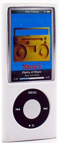 Anti-Slip Silicone Skin for 5th Generation iPod Nano 5G (White)