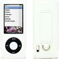 Slim Leather Case for 5th Generation iPod Nano 5G (White)