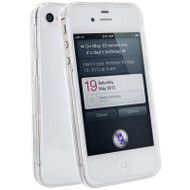Crystal Hard Shell Case and Screen Protector for iPhone 4 / 4S (Clear)