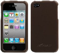 Executive Leather Acrylic Case and Screen Protector for iPhone 4 / 4S - Brown