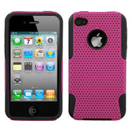 Astronoot Multi-Layer Hybrid Case and Screen Protector for iPhone 4 / 4S - Hot Pink