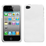Snap-On Acrylic Shell Case and Screen Protector for Apple iPhone 4 / 4S - White