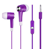 Noise Isolating Stereo Earphones Hands-free Headset with Mic - Purple