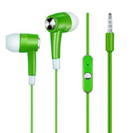 Noise Isolating Stereo Earphones Hands-free Headset with Mic - Apple Green