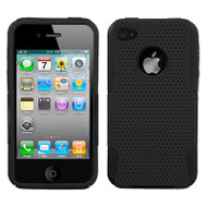 Astronoot Multi-Layer Hybrid Case and Screen Protector for iPhone 4 / 4S - Black