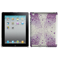 Diamante SmartSlim Case for iPad 2, iPad 3 and iPad 4th Generation - Purple Starburst Gem Gradients
