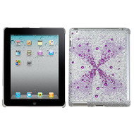 *CLEARANCE* Diamante SmartSlim Case for iPad 2, iPad 3 and iPad 4th Generation - Purple Singularity Gem Gradients