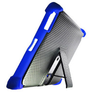 Duo Action Hybrid Case with Kickstand for iPad 2, iPad 3 and iPad 4th Generation - Black Blue