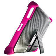 Duo Action Hybrid Case with Kickstand for iPad 2, iPad 3 and iPad 4th Generation - Black Pink