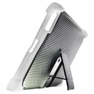 Duo Action Hybrid Case with Kickstand for iPad 2, iPad 3 and iPad 4th Generation - Black White
