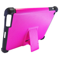 Duo Action Hybrid Case with Kickstand for iPad 2, iPad 3 and iPad 4th Generation - Hot Pink