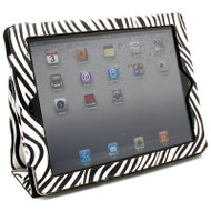*CLEARANCE* Vinyl Portfolio Smart Case for iPad 2, iPad 3 and iPad 4th Generation - Zebra
