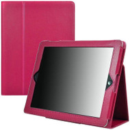 Leather Portfolio Smart Case for iPad 2, iPad 3 and iPad 4th Generation - Hot Pink