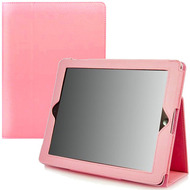 Leather Portfolio Smart Case for iPad 2, iPad 3 and iPad 4th Generation - Pink
