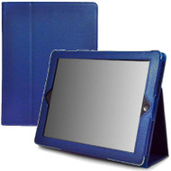 Leather Portfolio Smart Case for iPad 2, iPad 3 and iPad 4th Generation - Blue