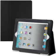 Leather Portfolio Smart Case for iPad 2, iPad 3 and iPad 4th Generation - Black